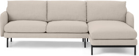 An Image of Miro Right Hand Facing Chaise End Corner Sofa, Oat Weave