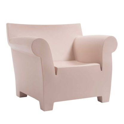 An Image of Kartell Bubble Armchair, Zinc White