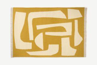 An Image of Lafant Wool Flatweave Rug, Large 160 x 230cm, Tan