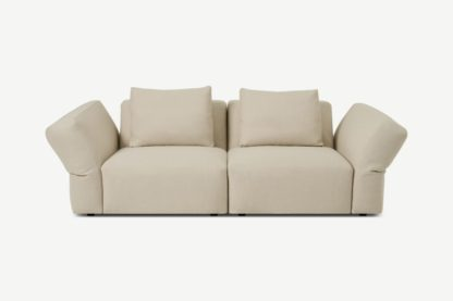 An Image of Jacklin 2 Seater Sofa, Natural Recycled Weave
