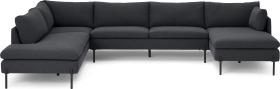 An Image of Zarina Left Hand Facing Corner Sofa, Sterling Grey