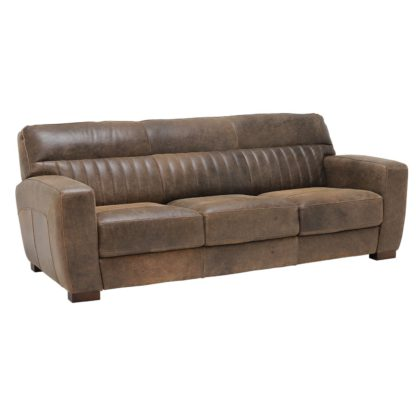 An Image of New Missano 3 Seater Leather Sofa