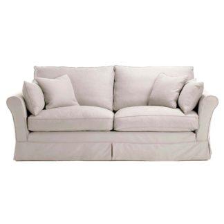 An Image of Berkeley Fabric Loose Covers Large Sofa