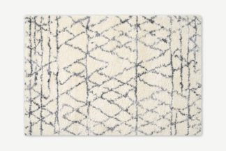 An Image of Timijan Berber Style Rug, Large 160 x 230cm, Off-White & Grey
