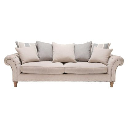 An Image of Craven Extra Large Sofa With Studs