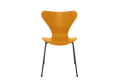 An Image of Fritz Hansen Series 7 Chair Coloured Ash Black Legs Light Beige