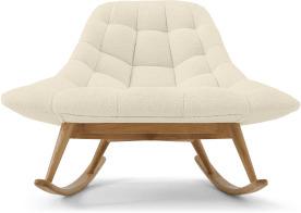 An Image of Kolton Rocking Chair, Whitewash Boucle
