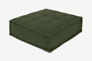 An Image of Sully Floor Cushion, Sage Corduroy Velvet