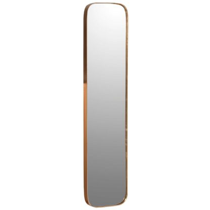An Image of Tall Gold Rim Mirror