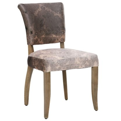 An Image of Timothy Oulton Mimi Velvet Faded and Degraded Dining Chair, Peat Smudge