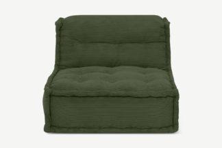 An Image of Sully Modular Floor Cushion, Sage Corduroy Velvet