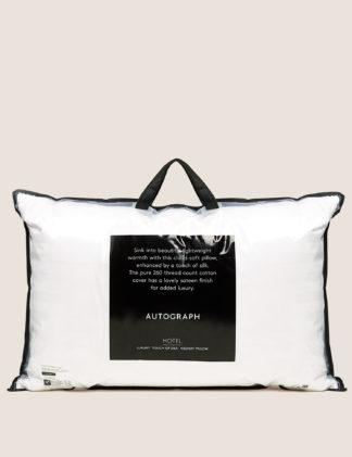 An Image of M&S Autograph Touch of Silk Medium Pillow