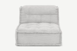 An Image of Sully Modular Floor Cushion, Stone Grey Corduroy Velvet