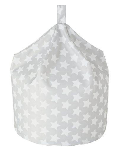 An Image of Argos Home Silver Stars Classic Bean Bag