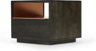 An Image of Anderson Bedside Table, Mocha Mango Wood & Copper