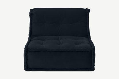 An Image of Sully Modular Floor Cushion, Twilight Blue Velvet