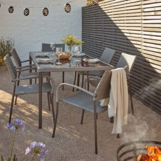 An Image of Bambrick 6 Seater Garden Dining Set