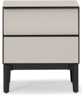 An Image of Silas Bedside Table, Silver Grey Glass