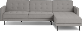 An Image of Rosslyn Right Hand Facing Chaise End Click Clack Sofa Bed, Cinder Grey