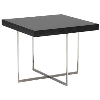 An Image of Borgia Lamp Table, Grey Highgloss