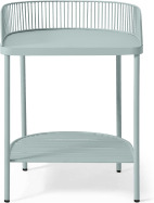 An Image of Oving Metal Bedside Table, Sky Grey