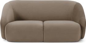 An Image of Blanca 2 Seater Sofa, Mink Velvet