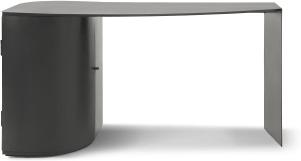 An Image of Romer Wide Storage Desk, Gunmetal