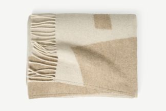 An Image of Lafant Wool Throw, 125 x 170cm, Neutral