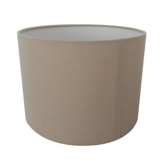 An Image of Ada Drum Lamp Shade, 25cm, Taupe