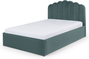 An Image of Delia Super King Size Ottoman Storage Bed, Marine Green Velvet