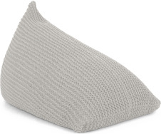 An Image of Andra Chunky Knit Bean Bag, Large, Soft Grey