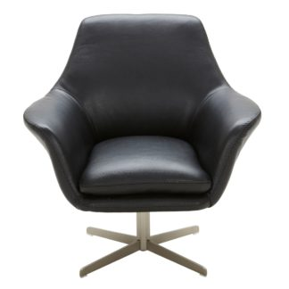 An Image of Ucello Leather Swivel Chair