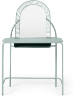An Image of Oving Metal Dressing Table, Sky Grey