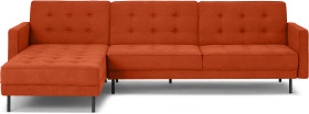 An Image of Rosslyn Left Hand Facing Chaise End Click Clack Sofa Bed, Sadona Orange