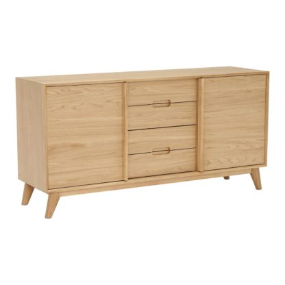 An Image of Lund 3 Section Sideboard, Oak