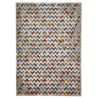 An Image of 16th Avenue 36A MultiColoured Rug Grey, Blue, Green and Brown