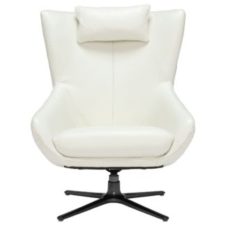 An Image of Laurino Leather Swivel Chair