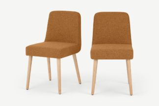 An Image of Adams Set of 2 Dining Chairs, Orleans Marmalade Orange