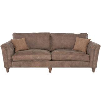 An Image of Darwin Grand Split Frame Leather Sofa