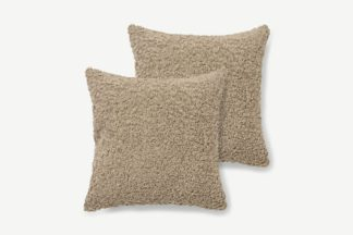 An Image of Mirny Set of 2 Boucle Cushions, 45 x 45cm, Taupe