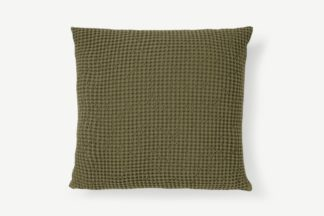An Image of Grove 100% Cotton Cushion, 50 x 50cm, Olive