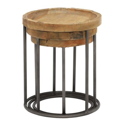 An Image of Keeler Set Of 3 Reclaimed Round Tables