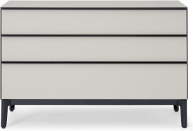 An Image of Silas Chest of Drawers, Silver Grey Glass