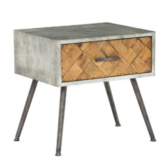 An Image of Keeler Reclaimed 1 Drawer Side Table