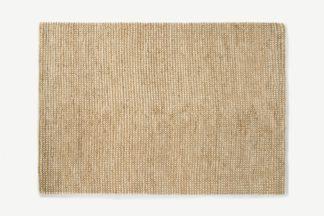 An Image of Mumbi Textured Wool & Jute Rug, Extra Large 200 x 300cm, Natural