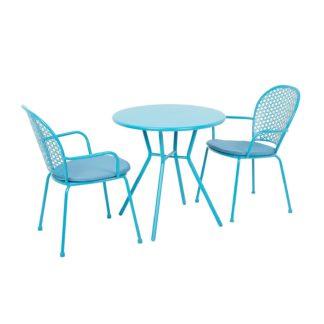 An Image of Emilie Bistro Set - Blue
