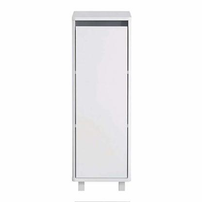 An Image of Senna Single Door Bathroom Floor Cabinet - White