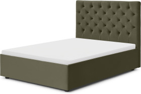 An Image of Skye Double Ottoman Storage Bed, Sycamore Green Velvet