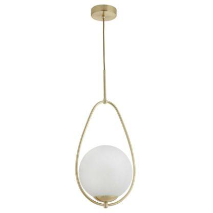 An Image of White Ball Gold Framed Pendant