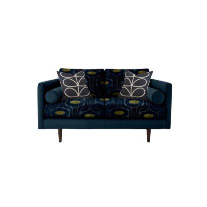 An Image of Orla Kiely Mimosa Small Sofa, Patterned Velvet